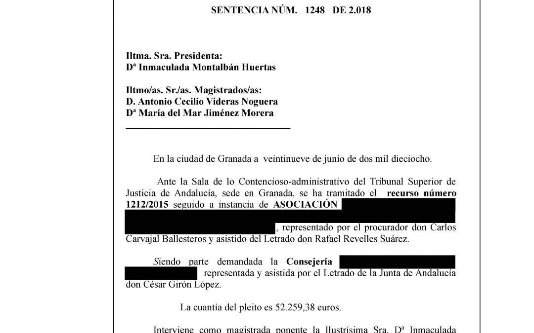 Una Asociación defendida por Revelles Abogados le gana a la Junta 52.259,38 € más intereses del reintegro de una subvención.