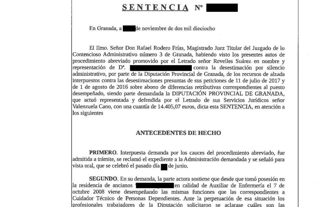"""""""OTRO CASO MÁS DE FUNCIONARIA DEFENDIDA POR REVELLES ABOGADOS GANA 14.500 EUROS A LA DIPUTACIÓN DE GRANADA"""""""