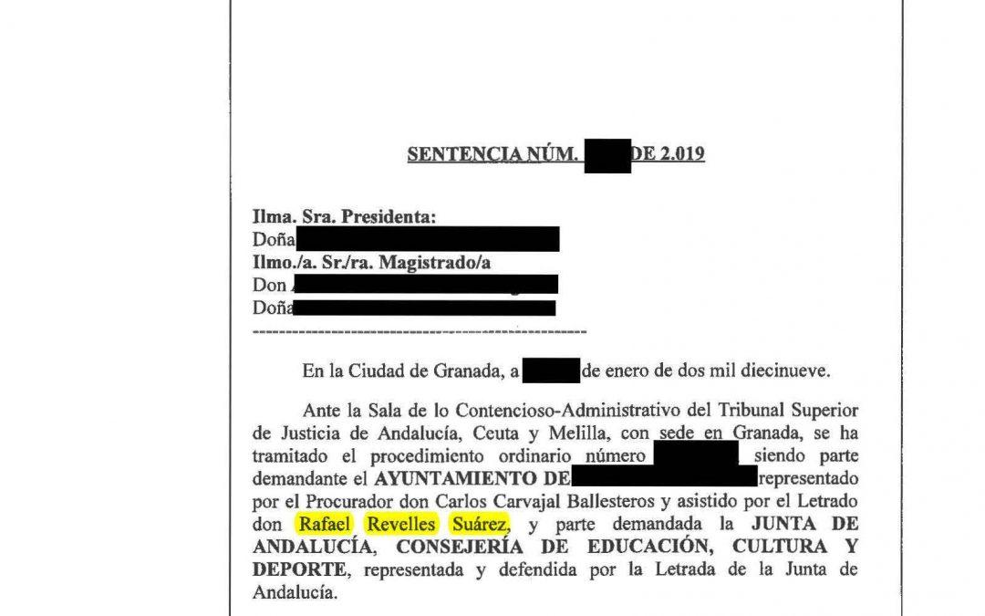 Un Ayto. defendido por Revelles Abogados gana más de 220.000 € a la Junta de una subvención.