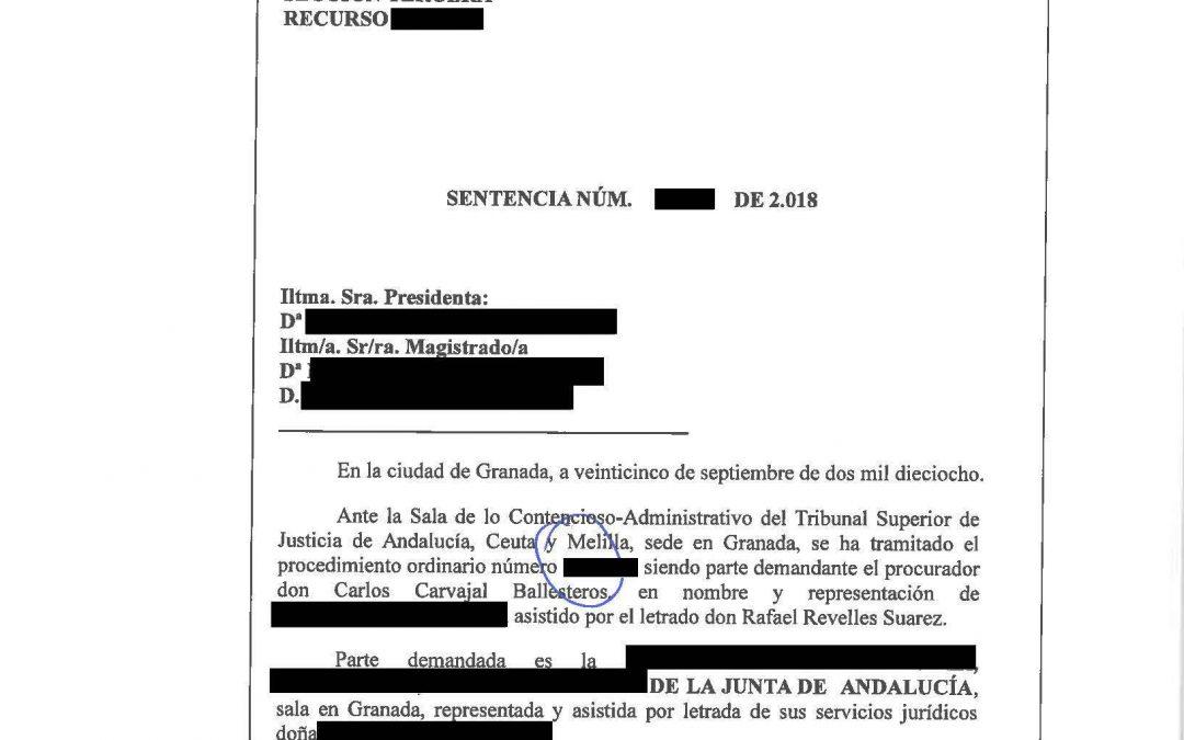 UNA EMPRESA DEL PTS GANA SU PROCESO DE 160.000 € A LA JUNTA DE ANDALUCÍA